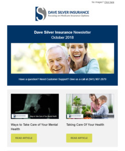 Dave Silver Insurance Agency Newsletter – October 2018