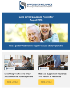 Dave Silver Insurance Agency Newsletter - August 2018