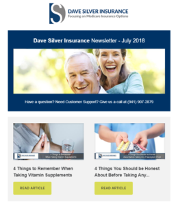 Dave Silver Insurance Agency Newsletter - July 2018