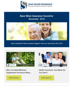 Dave Silver Insurance Agency Newsletter - November 2018